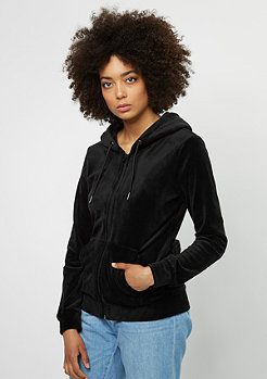 Hooded-Zipper Velvet black