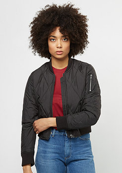 Diamond Quilt Short Bomber black/black