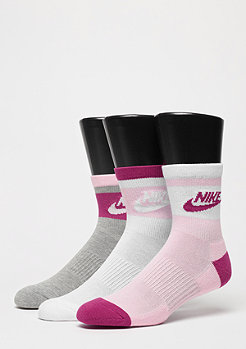 Low 3er Pack white/pink/grey