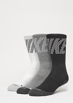 Dri-Fit Knurling Crew white/charcoal/black