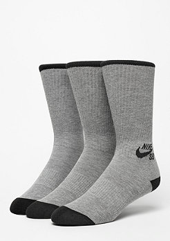 Sportsocke Crew 3er Pack dark grey heather/black