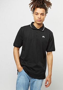 Polo Dri-Fit Pique Tipped black/white