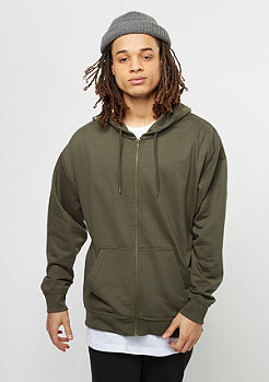 Oversized Sweat Zip Hoody olive