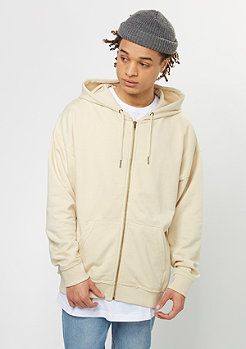 Oversized Sweat Zip Hoody sand