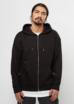 Hooded-Zipper Oversized Sweat black