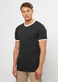 T-Shirt Ringer black/white