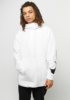 Hooded Woven white/black