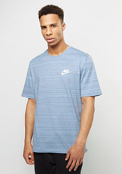 NIKE T-Shirt AV15 aluminium/heather/white