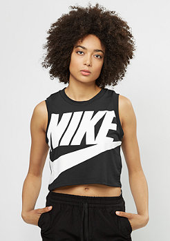 Tanktop Essential Crop black/black/white