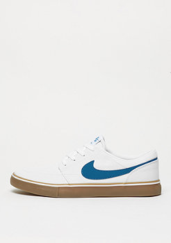 NIKE SB Skateschuh Solarsoft Portmore II Canvas white/industrial blue