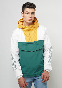 Pullover Windbreaker jasper green/yolk yellow/white