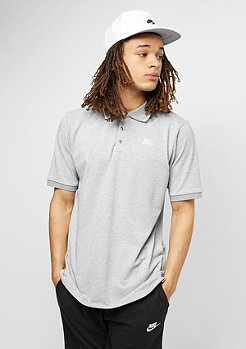 Dri-Fit Pique Tipped dark grey heather/white
