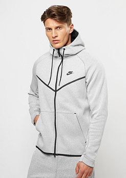 Hooded-Zipper Tech Fleece Windrunner white/heather/black