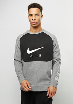 NIKE Sweatshirt Air Hybrid carbon heather/black/white