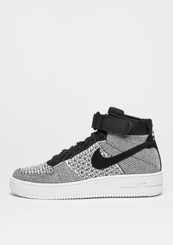 NIKE Air Force 1 Mid Flyknit black/black/white