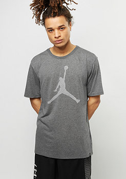 T-Shirt Iconic Jumpman Logo charcoal heather/white