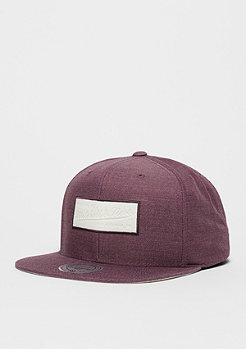 Snapback-Cap Cut Heather burgundy