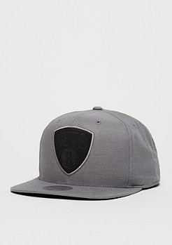 Snapback-Cap Cut Heather NBA Brooklyn Nets grey/black