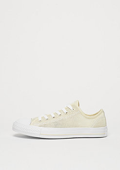Converse Schuh Chuck Taylor All Star Ox natural/frayed burlap/white