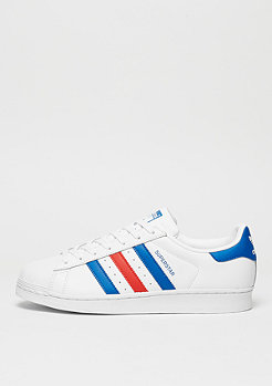 Schuh Superstar white/blue/red