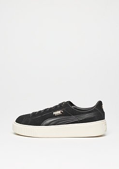 Suede Platform black/gold/whisper white