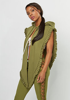 Fenty by Rihanna Big Knot Hoodie Shawl olive branch