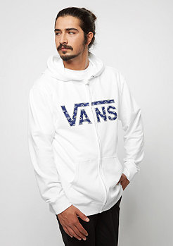 VANS Classic Hoodie white/dress blue washed up