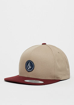 Snapback-Cap Quarter Twill white/red