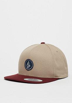 Volcom Snapback-Cap Quarter Twill white/red