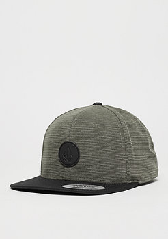 Snapback-Cap Quarter Fabric grey/black