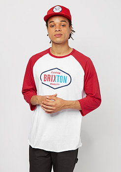 Brixton Oakland 3/4 white/red