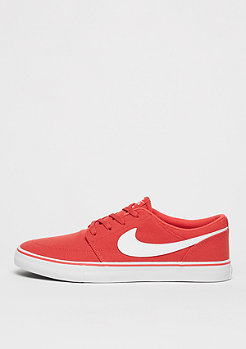 NIKE SB Skateschuh Solarsoft Portmore II Canvas track red/white/black