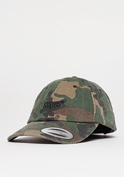 Baseball-Cap Unstructured wood camo/black