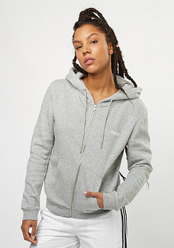 Basic Zip-Hoody heather grey