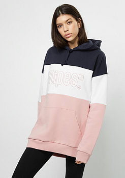 Hooded-Sweatshirt Oversized silver pink