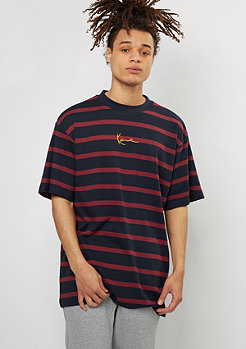 Karl Kani T-Shirt Stripes blue/burgundy