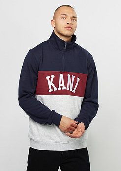 Karl Kani Sweatshirt College Troyer blue/burgundy