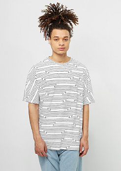 Cheap Monday T-Shirt Icon Edge Tron Stripe white