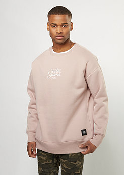 Sweatshirt Oversized Logo Embroidered stone pink