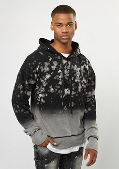 Hooded-Sweatshirt Oversized And Bleached Washed black