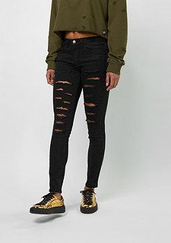 Jeans-Hose Destroyed black