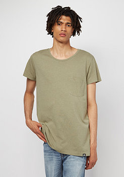 Cap Pocket khaki green melange