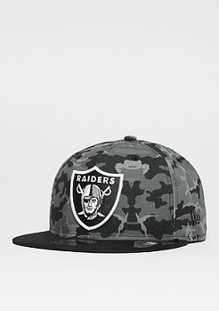 Fitted-Cap 59Fifty Team NFL Oakland Raiders dark green/moddy camo