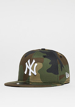 Snapback-Cap 9Fifty Leage Essential MLB New York Yankees woodland camo