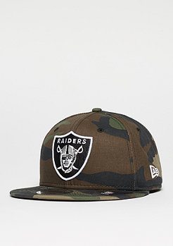 Snapback-Cap 9Fifty League Essential NFL Oakland Raiders woodland camo