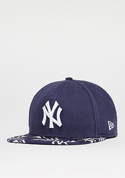Snapback-Cap 9Fifty Sandwash Visor Print MLB New York Yankees navy/white