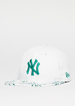 Snapback-Cap 9Fifty Sandwash Visor Print MLB New York Yankees optic white
