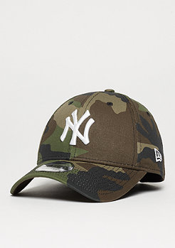 Baseball-Cap 9Forty League Essential MLB New York Yankees woodland camo