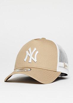 Trucker-Cap A-Frame Essential MLB New York Yankees camel/white