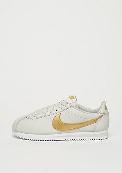 Classic Cortez Leather light bone/metallic gold/white